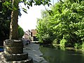 Market Cross and Nunney Brook. - panoramio.jpg