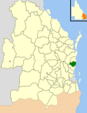 Shire of Maroochy - Location within Queensland