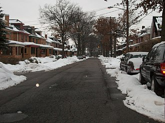 Marshall-Shadeland, Pittsburgh - Large, early 20th-century housing in the southern portion of the neighborhood.