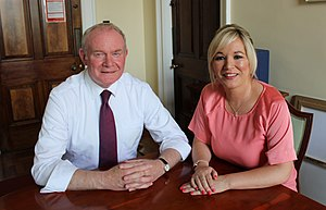 Martin McGuinness - Michelle O'Neill replaced McGuinness as Sinn Féin's leader in the Northern Ireland Assembly in January 2017