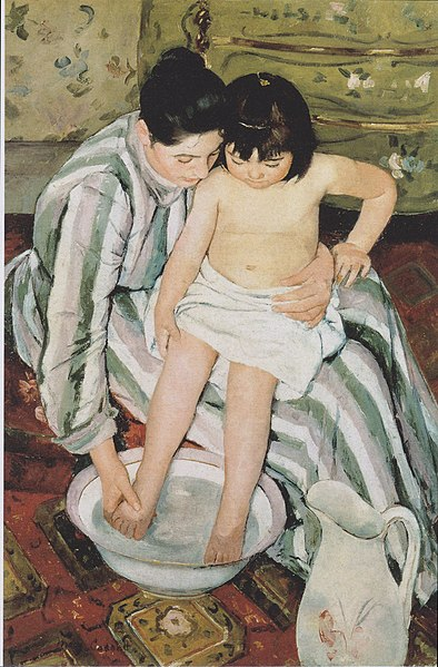 File:Mary Cassatt - The Child's Bath - 1893.jpeg