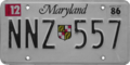 Maryland license plate, December 1986.png