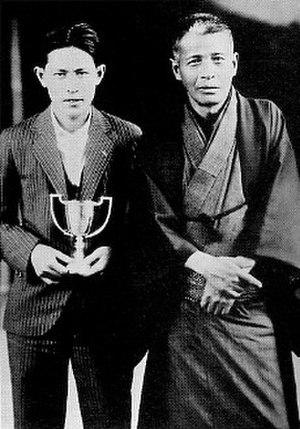 Masahiro Makino - 1928, Masahiro Makino with his father Shōzō Makino
