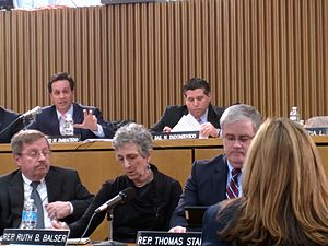 Vinny deMacedo - Photo of Senator Vinny deMacedo at Massachusetts Ways and Means hearings.