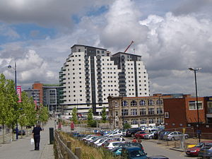 Masshouse - Block I after it has been topped out, July 2006.