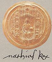 Matthias's signature and royal stamp