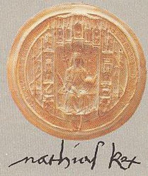 Matthias Corvinus - Matthias's signature and royal stamp