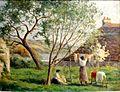 Maximilien LUCE, Rolleboise, le jardin du printemps, s.d., musée de l'hôtel-Dieu, inv. 98.04.40.JPG