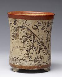 Mayan - Cylinder Vessel - Walters 482776 - Side B