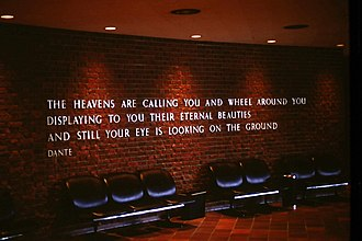 McLaughlin Planetarium - A quote from Dante's Divine Comedy within the entrance hall of the main floor of the McLaughlin Planetarium