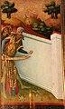 Meister francke, altare di santa barbara, amburgo 1420 circa, dalla chiesa di kalanti, 02 miracolo del muro 1.JPG