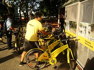 English: Bike sharing in Buenos Aires