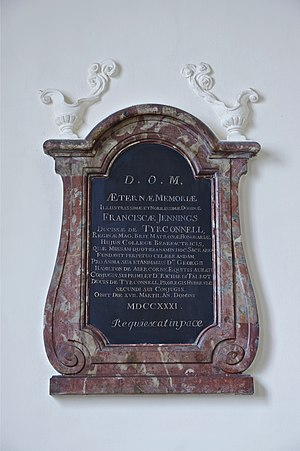 Frances Talbot, Countess of Tyrconnel - Image: Memory plaque Frances Jennings of Tyrconnell