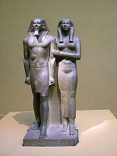 Menkaure and Chamerernebti II.jpg