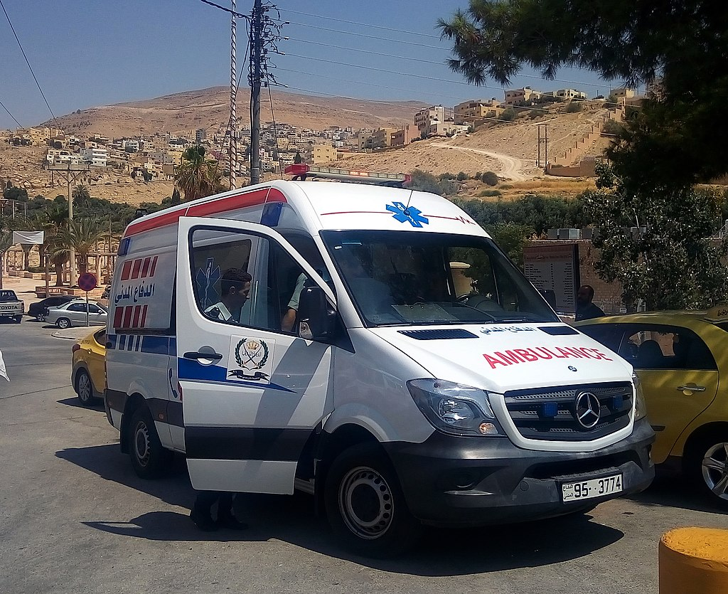 Mercedes-Benz Sprinter ambulance in Petra, 2017