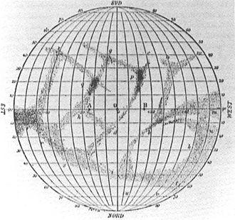 Giovanni Schiaparelli - Schiaparelli's planisphere of Mercury