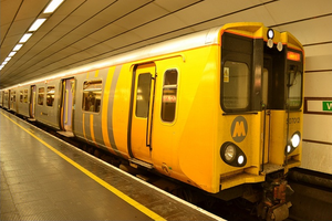 Liverpool City Region - Typical Merseyrail train at Liverpool Central underground station