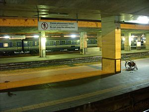 Night view of the platforms