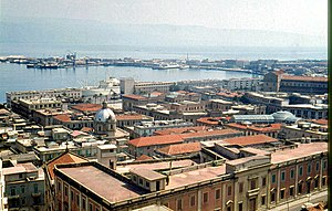 View of Messina Harbour looking towards the station.