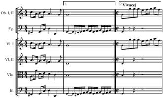 Metric modulation - Image: Metric modulation Bach