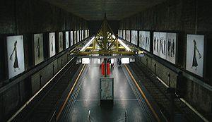 Houba-Brugmann metro station - Image: Metro Brussel Houba Brugmann