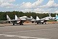 MiG-29 Fulcrums 29 red & 74 red at Chkalovsky (8508830246).jpg