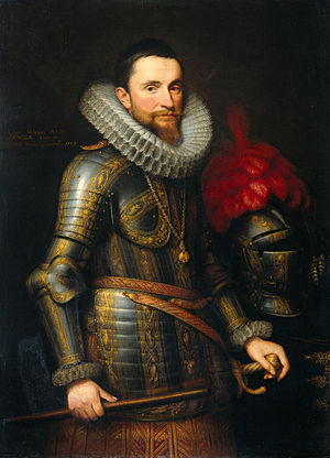 Siege of Lingen (1605) - Spanish General Don Ambrosio Spinola by Michiel Jansz. van Mierevelt.