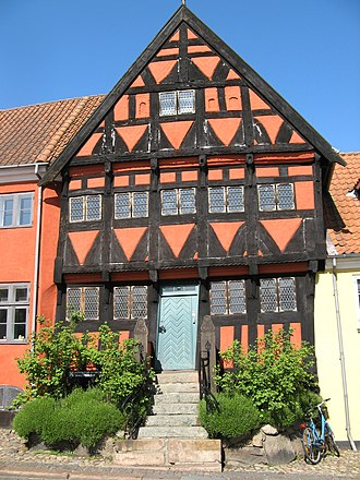 Middelfart - The half-timbered Henner Friiser Hus, now a museum