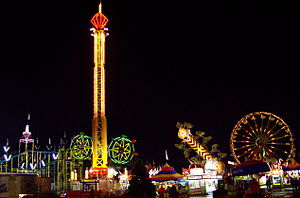 Rides on the Midway, Minnesota State Fair, Fal...