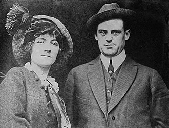 Mike Donlin - Mike Donlin and his first wife, Mabel Hite, around 1910.