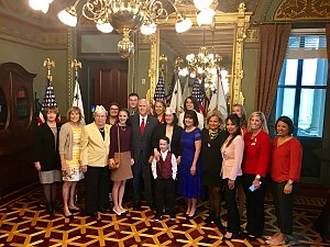 Karen Pence - Mike and Karen Pence with Gold Star Wives of America, April 2017
