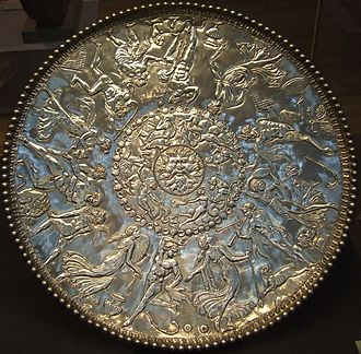 Repoussé and chasing - The Great Dish, or Great Plate of Bacchus, from the Roman Mildenhall Treasure
