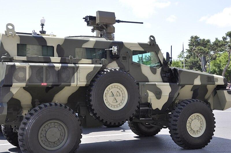 Marauder showcased in a Baku parad, army day
