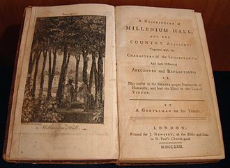 Sarah Scott - Frontispiece of Millenium Hall