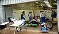 Minardi M195 in the pit garage at the 1995 British GP, Silverstone (49712756467).jpg