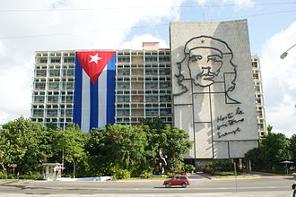 Politics of Cuba - Ministry of the Interior building on the Plaza de la Revolución, Havana