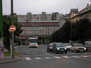 City Centre (Miskolc) - The crossing next to Centrum supermarket