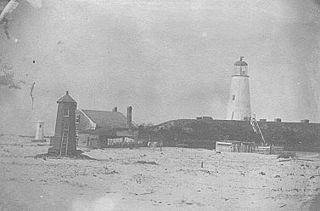 Mobile Point Range Lights lighthouse in Alabama, United States