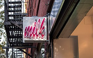 Momofuku (restaurants) - Milk Bar Nolita sign