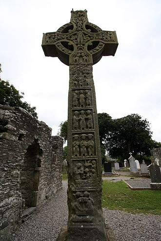 Celtic cross - A high cross at Monasterboice in Ireland