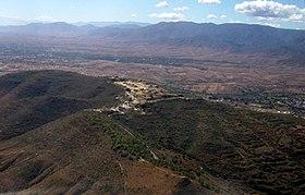 Vue aérienne de Monte Albán.
