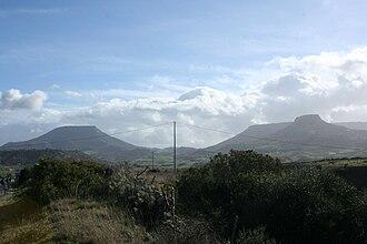 Monte Santo (Siligo) - Image: Monte Santu e Monte S. Antonio (Pelau), Siligo, Sardinia
