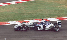 Photo de la Williams FW25 de Juan Pablo Montoya en France