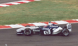 Juan Pablo Montoya - Montoya at the 2003 French Grand Prix, a race in which his Williams team finished first and second.