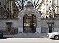 Monument mansion, now the Austrian ambassador's residence. Street gate from outside (street). - Budapest, XII. district. Városmajor St., 28B.JPG