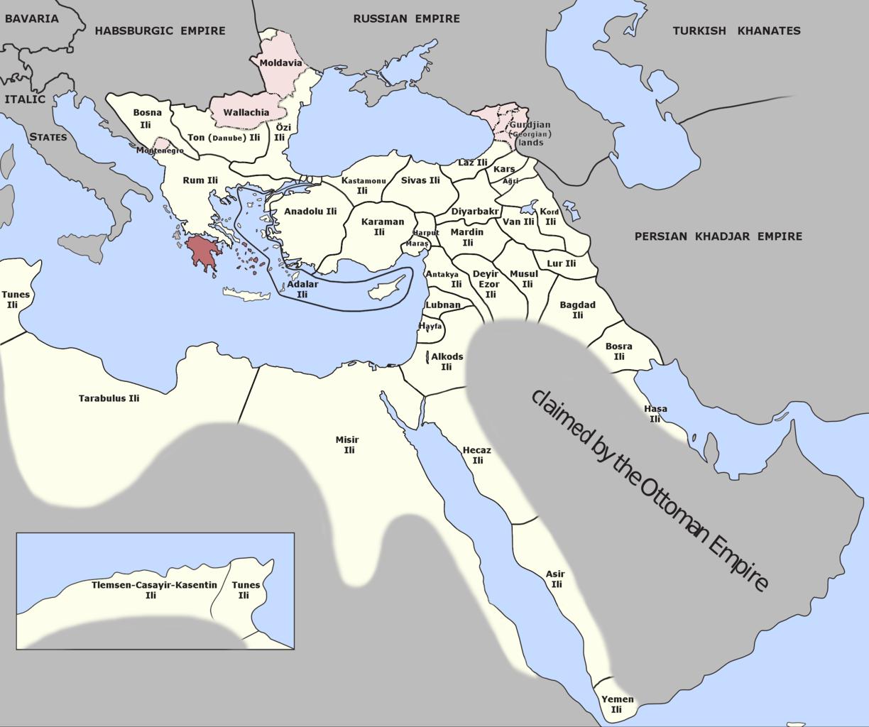 Fichier morea eyalet ottoman empire 1795 png wikip dia - La carte de l empire ottoman ...