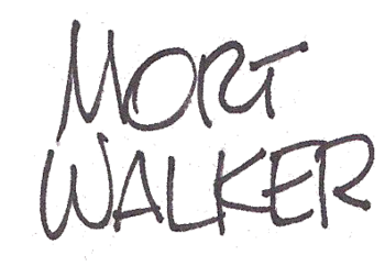 English: Mort Walker's signature