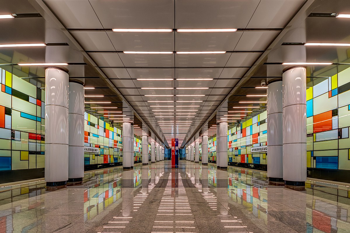 The design of the metro station Tulskaya in Moscow won the project Harmon 3