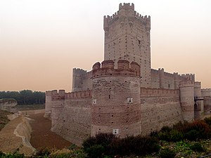 National monuments of Spain - Panoramic view of the Castle of La Mota