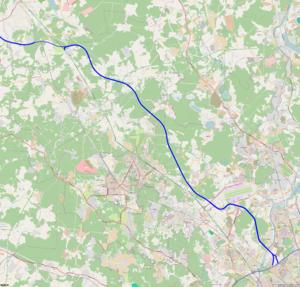 Moscow–Saint Petersburg motorway - Headway map.